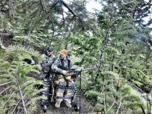 Dustin Shilcox and Joe Kondelis In Bear Blind